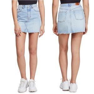 Urban Outfitters BDG Light Wash Denim Mini Skirt